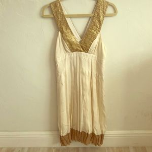 Nicole Miller Collection gold accent dress